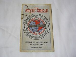 1920'S MYSTIC ORACLE QUESTION ANSWER MYSTERIOUS OLD ADV MAGIC CARD T*
