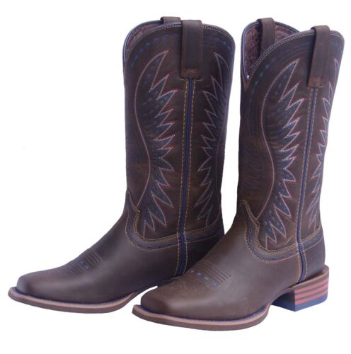 Ladies Baxter BXT Dixie Square Toe Western Boots NEW