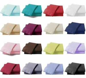 Extra-Deep-40cm-Fitted-Sheet-Bed-Sheets-100-Poly-Cotton-Single-Double-King-Size