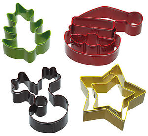 Kitchen-Craft-Christmas-Star-Reindeer-Santa-amp-Tree-Biscuit-Pastry-Cutters-Set