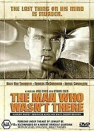 THE-MAN-WHO-WASN-T-THERE-DVD-Region-4-Billy-Bob-Thornton-Coen-Brothers-Rare