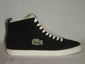 10254359218 Image is loading ORIGINAL-MENS-LACOSTE-MARCEL-HI-VINTAGE-BLACK-TRAINERS-