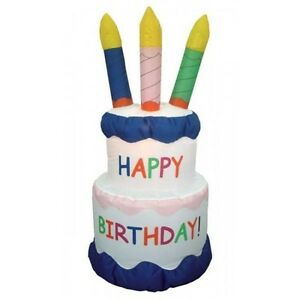 6-FOOT-JUMBO-INFLATABLE-BIRTHDAY-CAKE-Best-Party-Outdoor-Yard-Lawn-Decoration