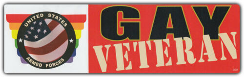 LGBT Bumper Stickers GAY VETERAN VET Gays Military Army Navy Marines Support