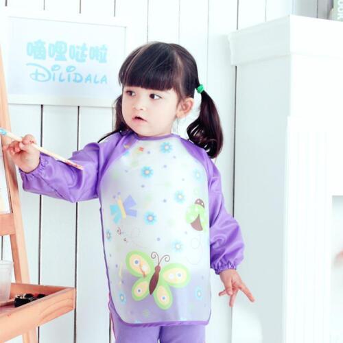 Art Toddler Smocks Children Waterproof Artist Painting Aprons Long Sleeve LI