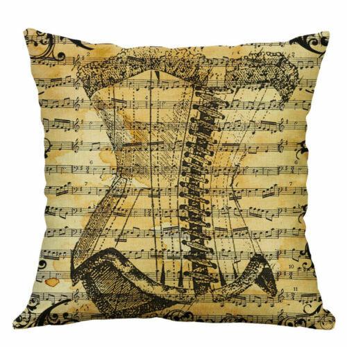 "18/"" Pattern Home Fashion Pillow Case Cotton Linen Music Decoration Cushion Cover"