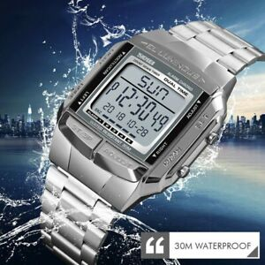 SKMEI-Men-039-s-Sport-Watches-Waterproof-Digital-Quartz-Stainless-Steel-Band-Watch