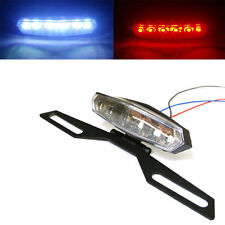 Motorcycle 6 LED License Plate Holder Tail Brake Bracket Mount Light ...