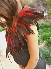 Assassin's Creed Red Feather Top Bolero Halloween Costume Old Times Royalty