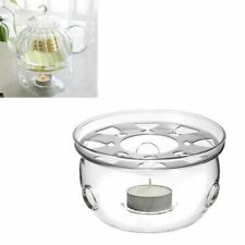 ghfcffdghrdshdfh Heat-Resisting Teapot Warmer Base Clear Glass Round Shape Insulation Tealight