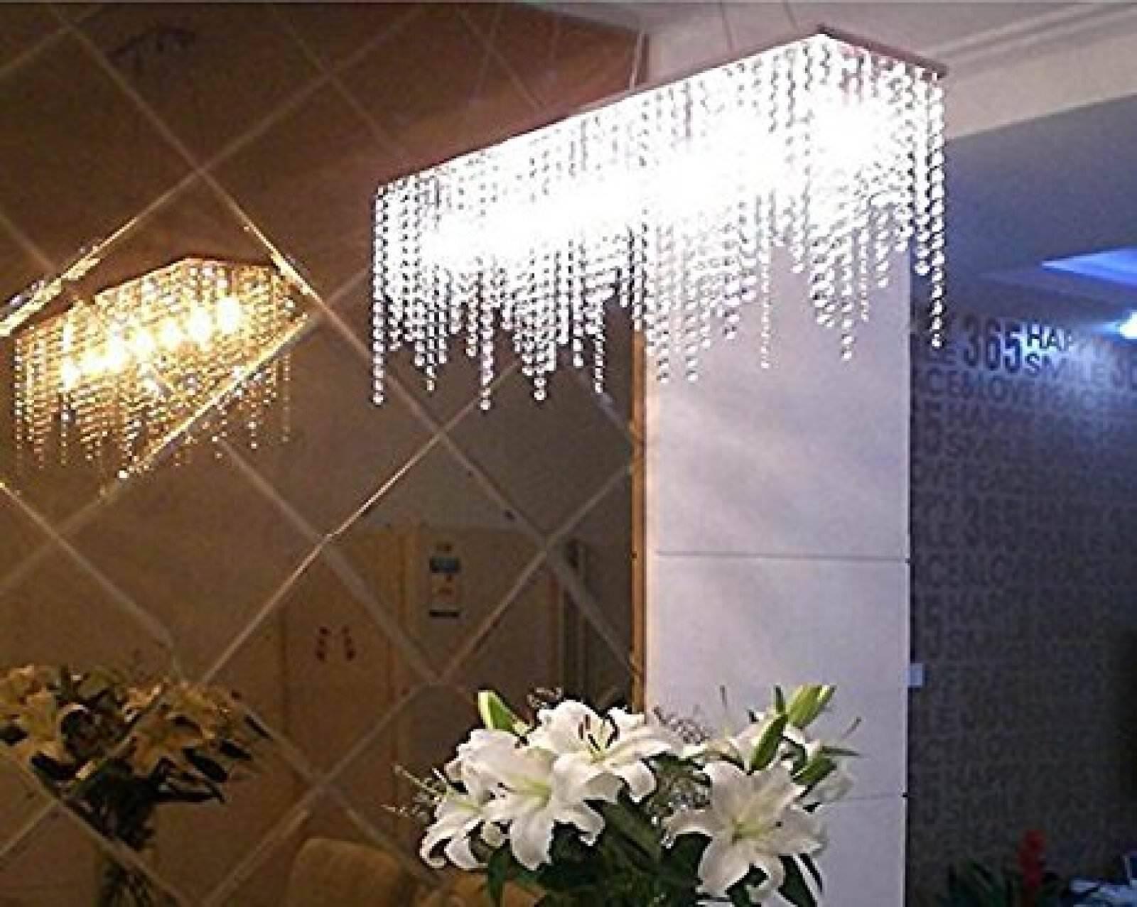 Cristal Chandelier Lámpara de luz de techo Isla De Cocina Comedor Iluminación