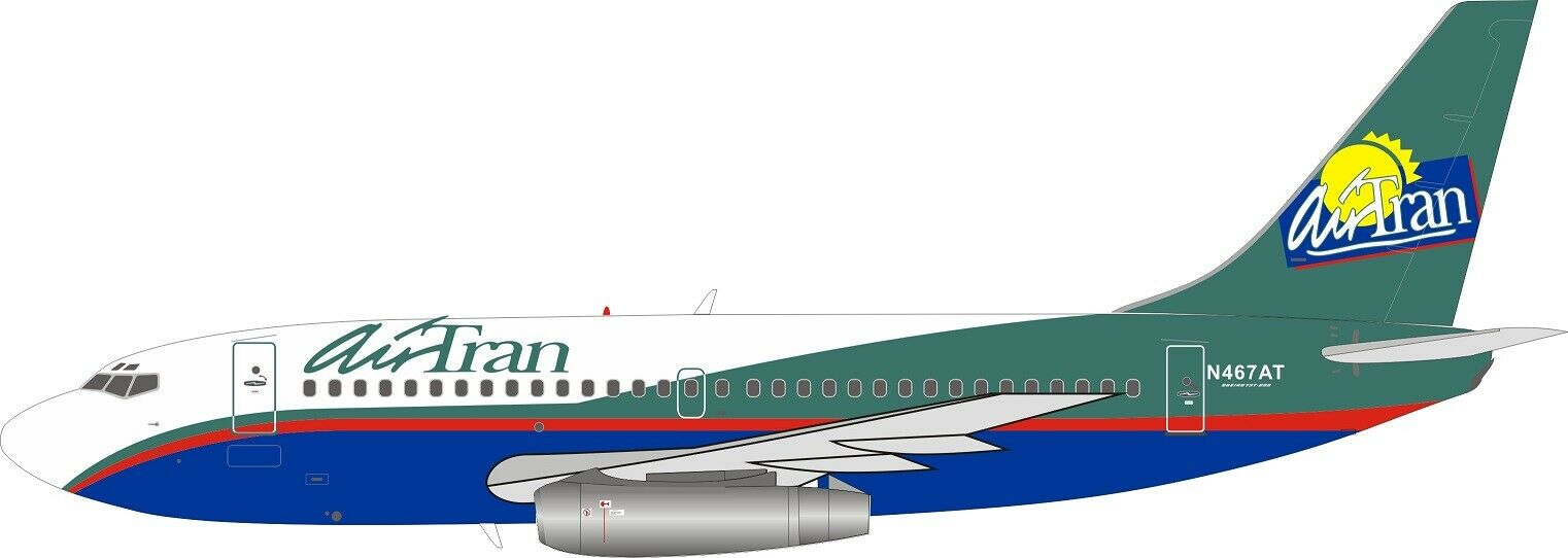 Inflight 200 IF732FL0519 1 200 AirTran Boeing 737-200 N467AT con Soporte