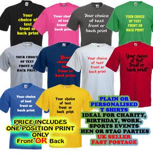Mens Custom Design tshirt Party Logo,Tee work Personalised Printed Man T-Shirt