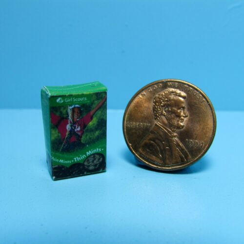 Dollhouse Miniature Replica Box of Girl Scout Thin Mints Cookies ~ G113