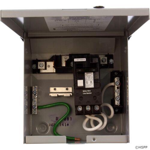 DP 60A U4881-O-60GB GFCI Disconnect 115v//230v Load Center