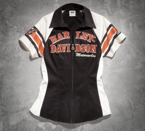iconica davidson donna 99148 a 14vw Iconic nera corte maniche Harley New Shirt da qXwp65xz