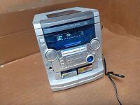 Aiwa CX-NAJ50 KARAOKE 3-Disc CD Changer Dual-Cassette Tape Player Stereo System