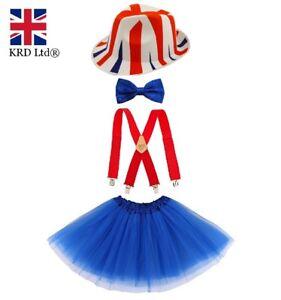 Union-Jack-Tutu-Costume-Party-Costume-Ragazze-Matrimonio-Reale-Accessorio-Lotto-Regno-Unito