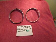 Studebaker Genuine Factory Oem Pair 2 Headlight Trim Rings Ic Free Shipping