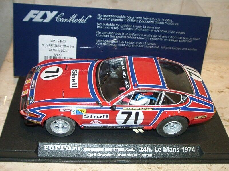Vzdn  FLY A651 88077 FERRARI 365 DAYTONA 24H LE MANS 1974 - slot 1:32 scale