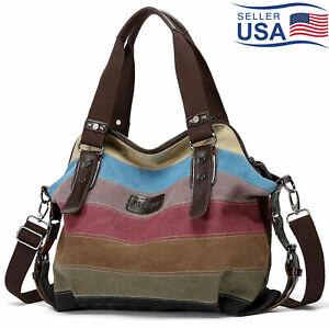 CHARLEENA-Hot-Canvas-Bag-Shoulder-Bag-Tote-Purse-Messenger-Satchel-Women-Handbag
