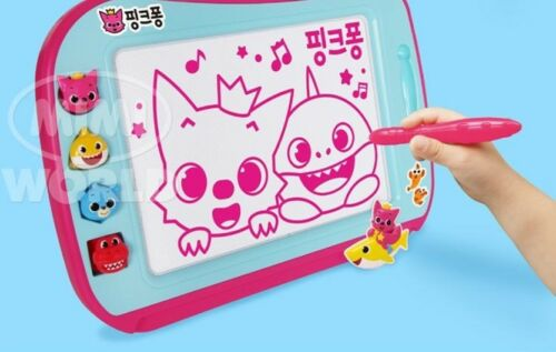 Pinkfong Color Board Stamp Art Toy Practice Writing Number Letter Baby /& Kids