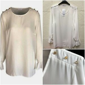 Ex EVANS Cotton Long Sleeve Plus Size Ladies T Shirt Top 3 Colours 14-32