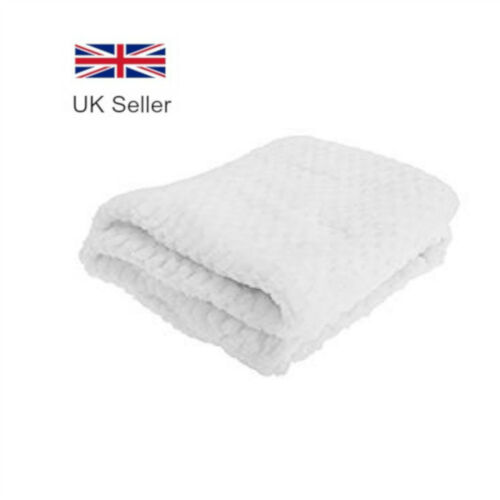 Infant White Soft Fleece Baby Wrap Newborn Crib Moses Basket Pram Blanket
