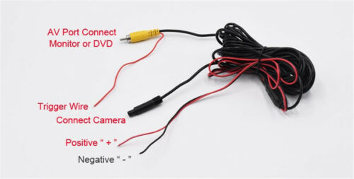 1x 140° Wide Angle Car Rear View Camera IR Night Vision Waterproof Back Up Lines