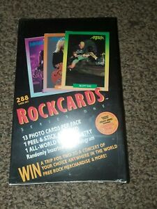1991-ROCKCARDS-Series-1-Trading-Cards-36-PACKS-Factory-Sealed-5-BOXES-LEFT