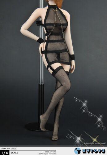 "ZYTOYS ZY5017 1//6 Scale black undewear Suit Fit 12/"" Female Figure Model Clothing"