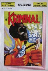 KRIMINALSerie-del-25-Coll-Scotland-Yard-034-TUTTE-LE-DONNE-034-N-29-ANNO-III-8-1991