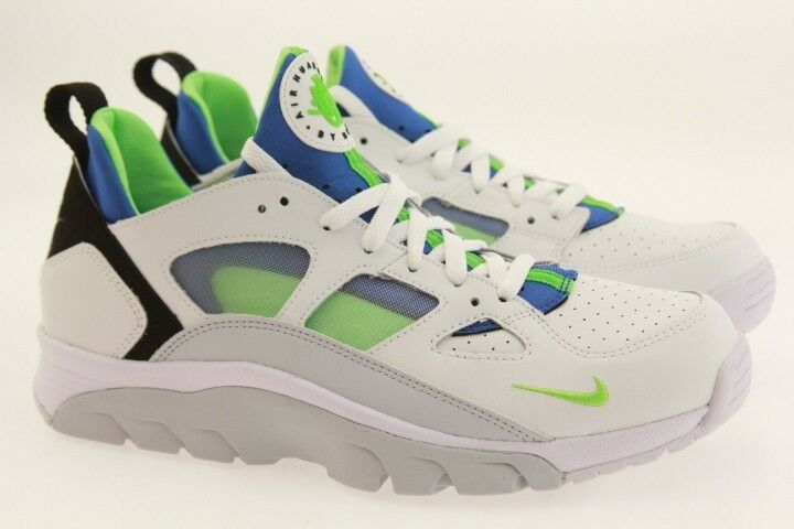 Nike Hombres Air Trainer Huarache bajas  blanco as grito Air Hombres Verde Azul Real 3b235a