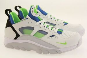 749447-101 Nike Men Air Trainer Huarache Low white scream green royal blue