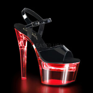 PLEASER-Flashdance-709-USB-Chargeable-Multi-Colour-Light-Up-Stripper-Pole-Heels
