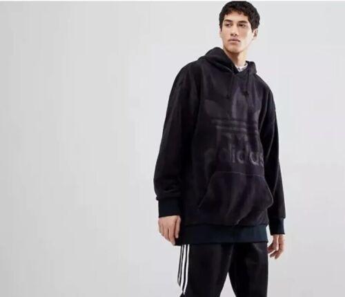 Black Large Velvet L Windbreaker Rare Velour Hoodie Originals Sz Adidas Cozy Xl wtqWIv