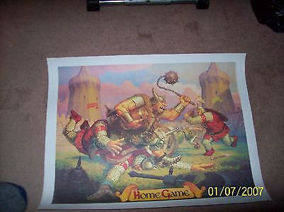 "Fantasy School Poster /""Home Game/"" by Greg /& Tim Hildebrandt Coca-Cola McDonalds"