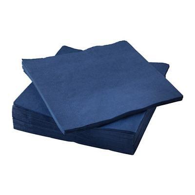 50 x ikea FANTASTISK Paper napkin red 24x24 cm 304.281.71 UK-BMCR