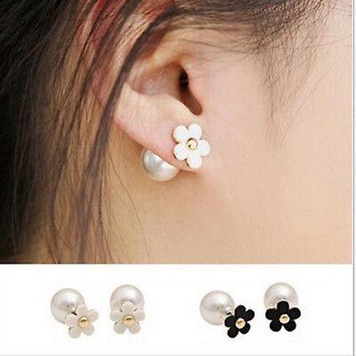 Hot Selling Double Pearl Cute Earring Ear Stud Fashion Trendy Women Girl Jewelry