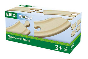4-Short-Curved-Tracks-BRIO-33337-Curves-Wooden-Railway-NEW