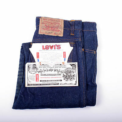 BNWT Levis Vintage 80s Dark Blue Indigo Jeans W28 L36 Uk 10 Ladies Red Tab SUPER
