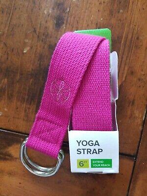 Gaiam 6 Ft Yoga Strap Pink Metal D Rings Ebay