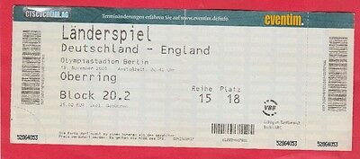 LiebenswüRdig Orig.ticket 19.11.2008 Deutschland - England // Edt.a !! Sehr Selten Moderater Preis