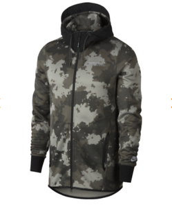 sale retailer 62615 9f355 Image is loading Nike-Air-Max-Full-Zip-Digital-Camo-Hoodie-