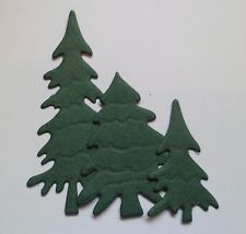 Christmas Tree/Fir Tree Silhouette Die Cuts in Black x 3 sizes x 18 pieces