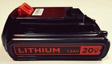 Black & Decker GENUINE LBXR20 20v Max 1.5 AH Lithium-Ion BATTERY NEW