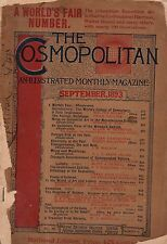 1893 Cosmopolitan September-The World's Fair; Is he living or dead by Mark Twain