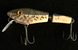 Details About Antique Wooden Fishing Lure With Glass Eyes L S Bass Master Lure No 25
