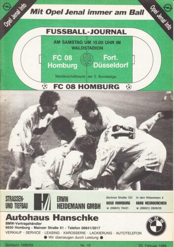 Fortuna Düsseldorf 25.02.1989 BL 88/89 FC Homburg II