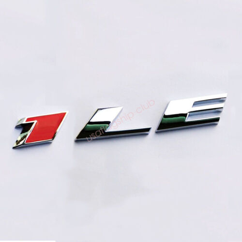 1x OEM 1LE Emblem Alloy 3D Badge for GM 2010-17 CAMARO 1LE Chrome Red Fu